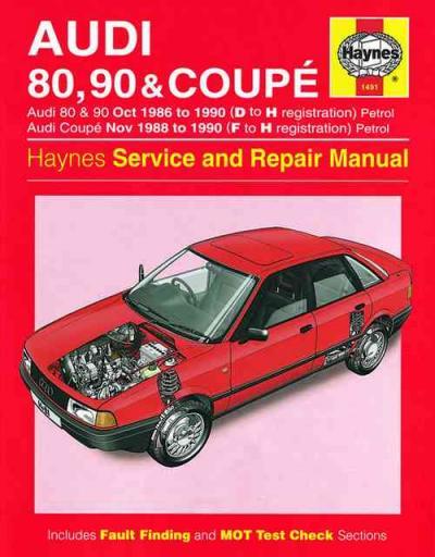 Audi 80 90 Coupe 1986 1990 Haynes Service Repair Manual Uk