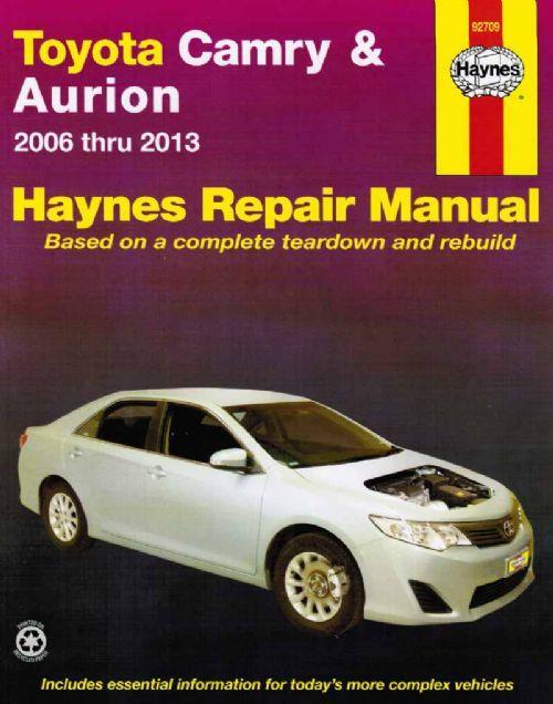 toyota camry aurion 2006 2013 haynes workshop manual sagin workshop car man. Black Bedroom Furniture Sets. Home Design Ideas