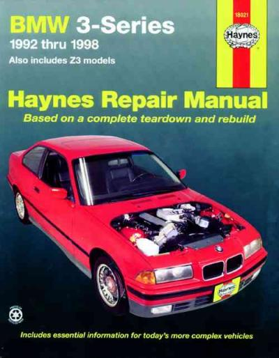 BMW 3 Series E36 E37 Z3 1992 1998 Haynes Service Repair Manual