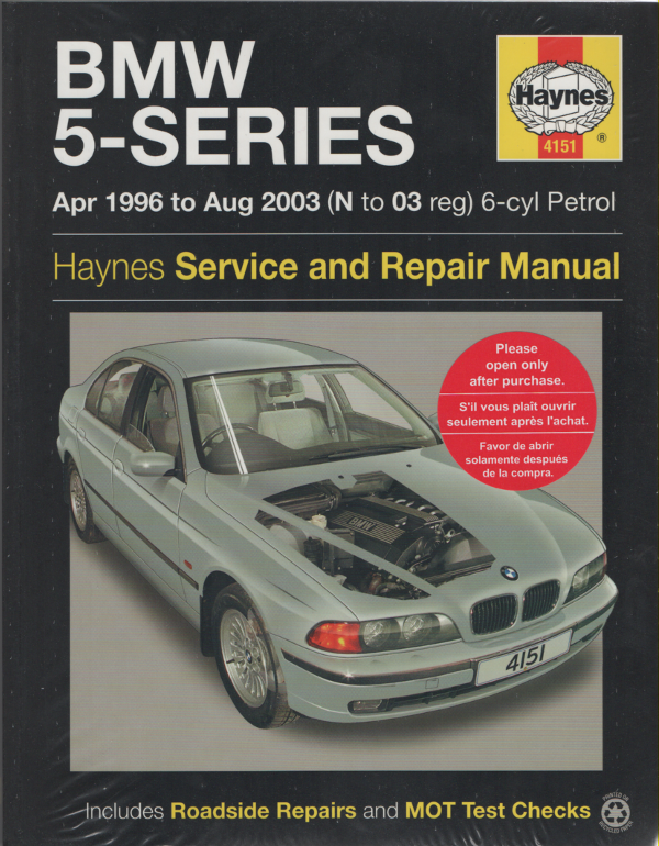 bmw 5 series service and repair manual haynes 1996 2003 new sagin workshop. Black Bedroom Furniture Sets. Home Design Ideas