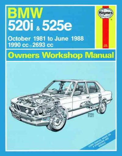 bmw 520i 525e 1981 1988 haynes service repair manual uk sagin workshop car. Black Bedroom Furniture Sets. Home Design Ideas