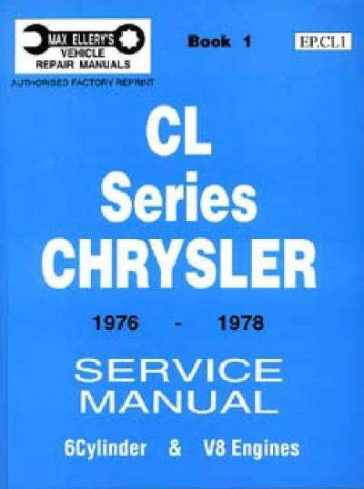Chrysler CL Series 1976 1978 Service Manual Book 1