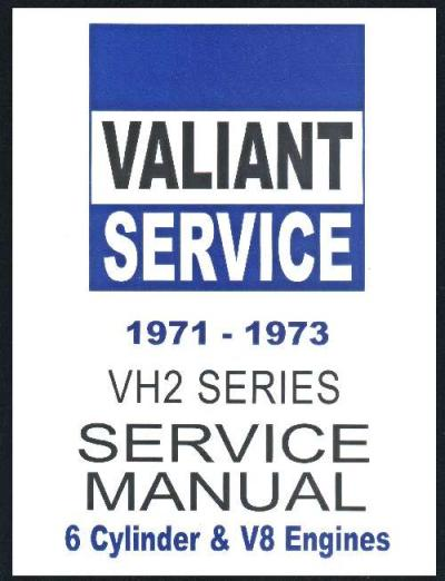 Chrysler Valiant 1971 1973 VH Service Repair Manual