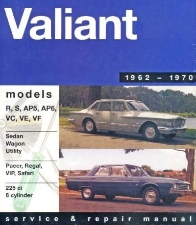 Chrysler Valiant R S AP5 AP6 VC VE VF 6 cyl 1962 1970