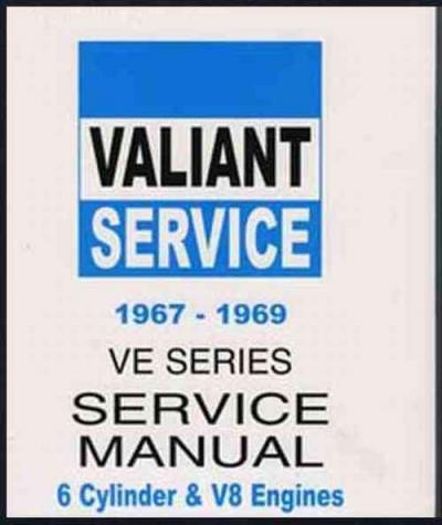 Chrysler Valiant VE 1967 1969 Service Manual