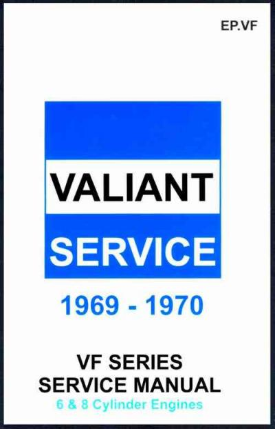 Chrysler Valiant VF 1969 1970 Service Manual