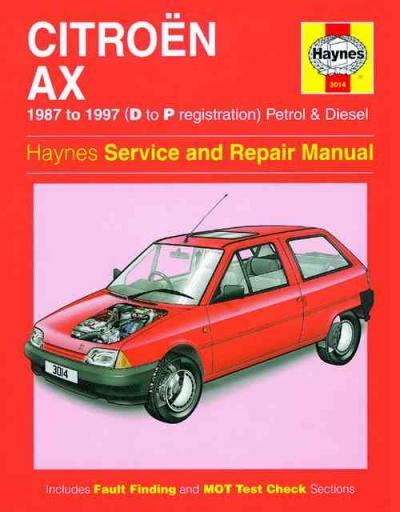 citroen ax petrol diesel 1987 1997 haynes service repair. Black Bedroom Furniture Sets. Home Design Ideas