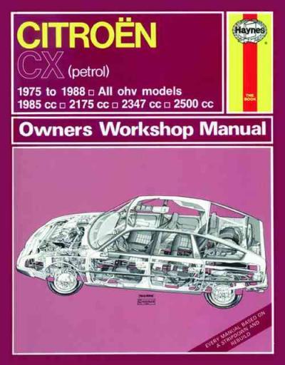 Citroen Cx 1975 1988 Haynes Service Repair Manual Uk