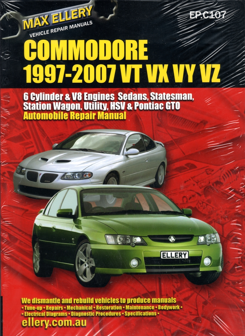 Holden Commodore Vt Vx Vy Vz Repair Manual 1997 2007 Ellery Ponac G8 V8 Engine Diagram New