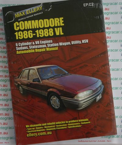 Holden Commodore VL repair manual 1986 - 1988 - Ellery - NEW