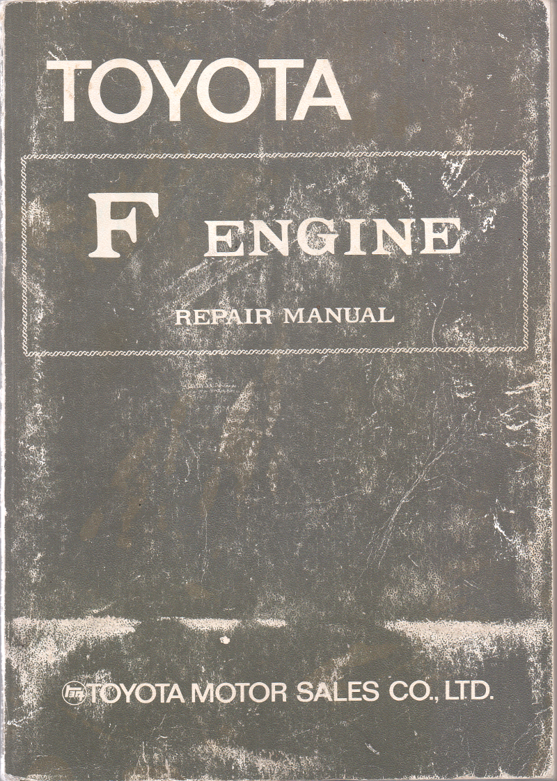 Toyota F engine workshop repair manual USED