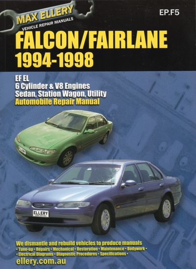 ford falcon fairlane ef el repair manual 1994 1998 new. Black Bedroom Furniture Sets. Home Design Ideas