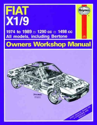 fiat x1 9 1974 1989 haynes service repair manual sagin. Black Bedroom Furniture Sets. Home Design Ideas