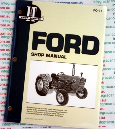 Ford 2100 2100 3100 4100 4110 4140 4200  Tractors Owners Service and Repair Manual