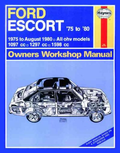 ford escort 1975 1980 haynes service repair manual sagin. Black Bedroom Furniture Sets. Home Design Ideas