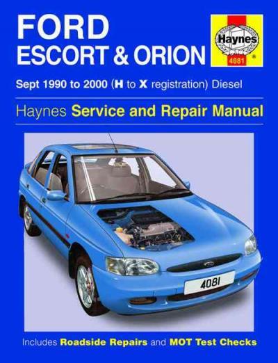 ford escort orion diesel 1990 2000 haynes service repair. Black Bedroom Furniture Sets. Home Design Ideas