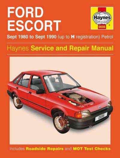 Ford Escort Petrol 1980 1990 Up To H Registration