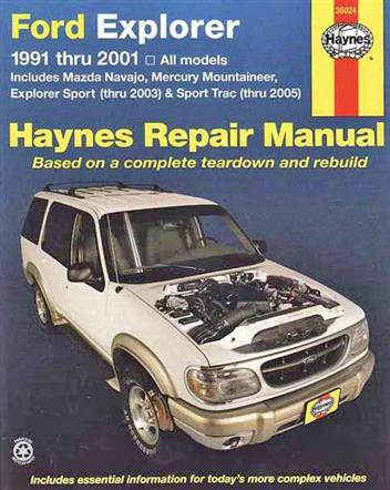 Ford Explorer 1991-2001  Workshop manual Haynes