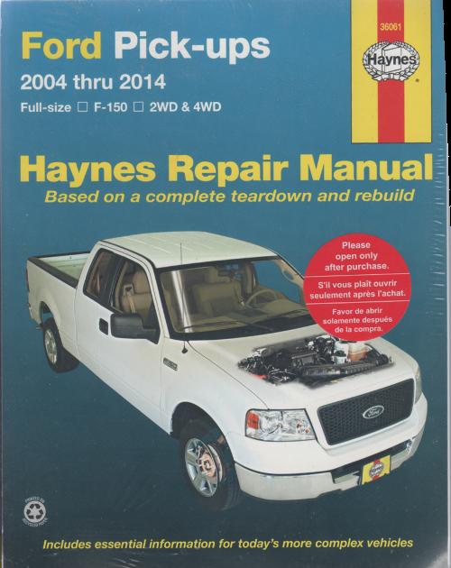 ford f150 pick ups 2004 2014 haynes service repair manual. Black Bedroom Furniture Sets. Home Design Ideas