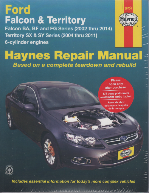 Ford Falcon BA BF BG TErritory SX SY workshop manual ford falcon ba bf fg territory sx sy 2002 2014 sagin workshop fg falcon wiring diagram manual at bayanpartner.co