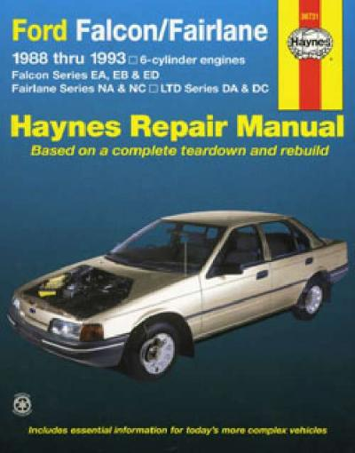 ford falcon ea eb ed 6 cyl 1988 1993 haynes service repair. Black Bedroom Furniture Sets. Home Design Ideas
