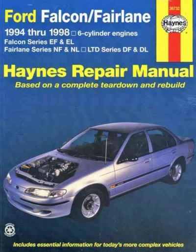 Ford Falcon Fairlane 1994 1998 Haynes Service Repair Manual
