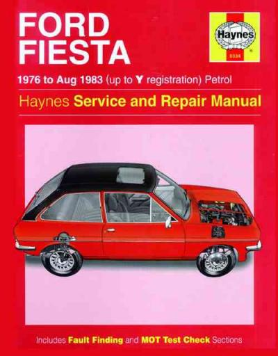 Ford Fiesta 1976 1983 Haynes Service Repair Manual