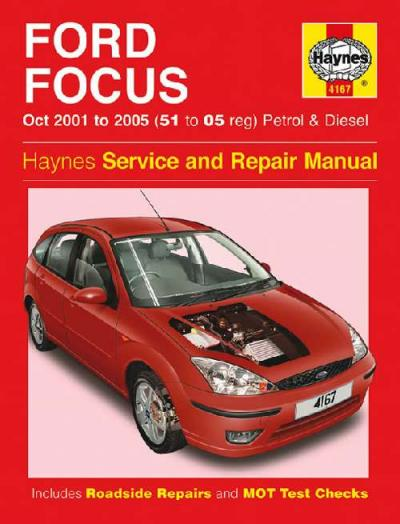 Ford Focus LR Petrol Diesel 2001-2005 Haynes Service Repair Manual
