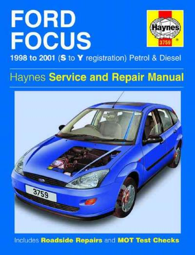 Ford Focus Petrol Diesel 1998 2001 Haynes Service Repair Manual    UK
