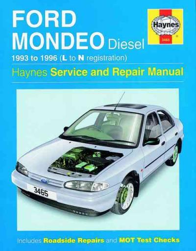 Ford Mondeo Diesel 1993 1996 Haynes Service Repair Manual