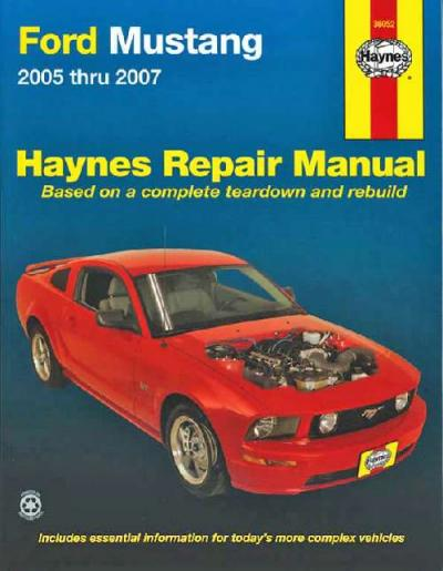ford mustang 2005 2007 haynes service repair manual. Black Bedroom Furniture Sets. Home Design Ideas