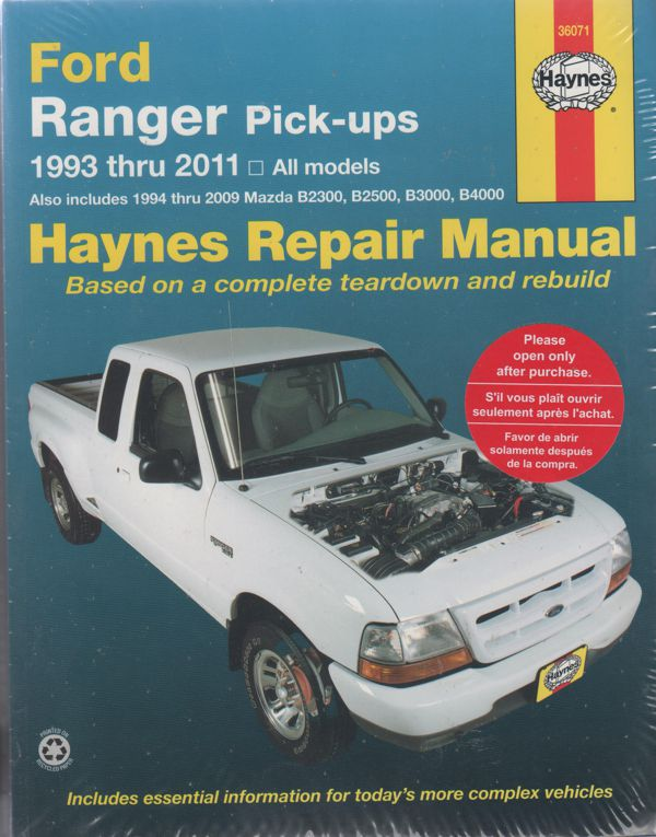 ford ranger courier mazda pick ups 1993 2011 haynes repair manual rh workshoprepairmanual com au 1974 Ford Courier Ford Courier 4x4