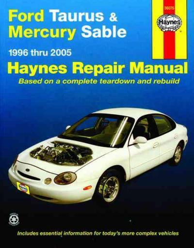 ford taurus mercury sable 1996 2005 haynes service repair. Black Bedroom Furniture Sets. Home Design Ideas
