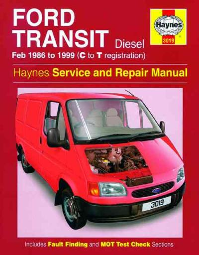 Ford Transit Diesel 1986 1999 Haynes Service Repair Manual