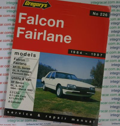 Ford Falcon Fairlane XF ZL repair manual 1984-1987