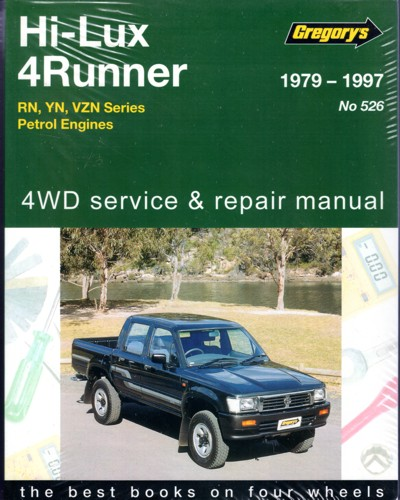 toyota hi lux 4wd 4runner petrol 1979 1997 gregorys service repair manual sagin workshop car. Black Bedroom Furniture Sets. Home Design Ideas