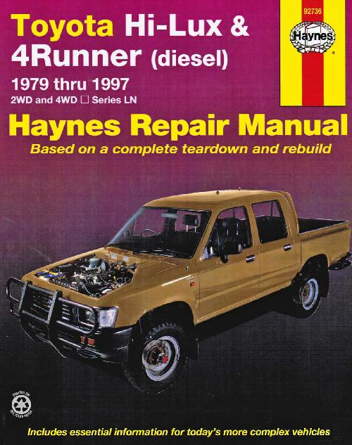 Toyota Hi Lux 4Runner Diesel 1979 1997 Haynes Service Workshop Repair