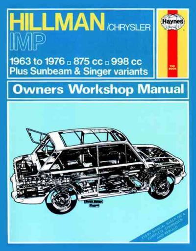 Hillman Imp 1963 1976 Haynes Service Repair Manual