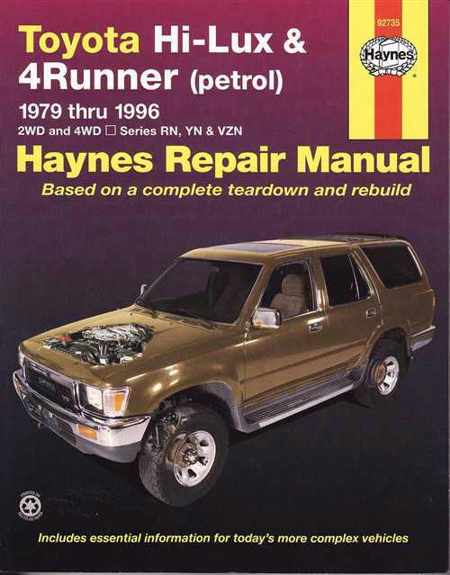 1995 toyota 4runner repair manual