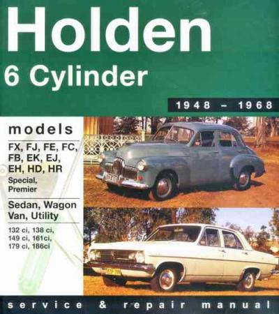 Holden 6 Cylinder FX HR 1948 1968 Gregorys Service Repair Manual