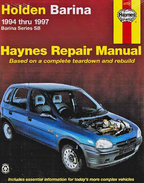 2017 Holden Barina Repair Manual