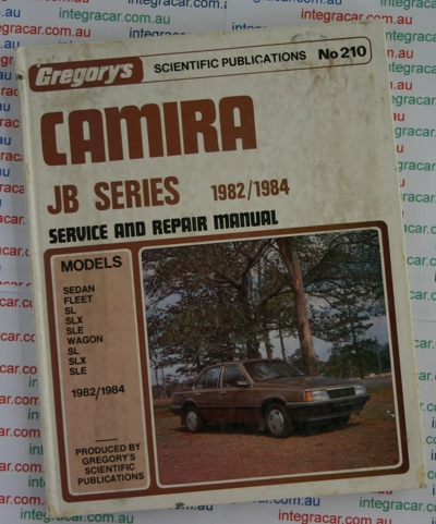 Holden Camira JB repair manual 1982- 1984