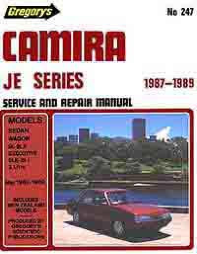 Holden Camira Je 1987 1989 Gregorys Service Repair Manual
