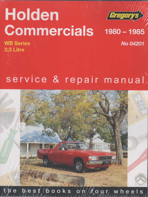 Holden Commercial WB 6 cyl 1980 1985 Gregorys Service Repair Manual