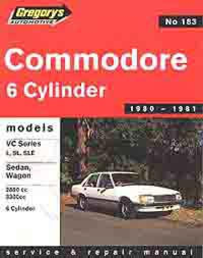 Holden Commodore VC 6 cyl 1980 1981 Gregorys Service Repair Manual