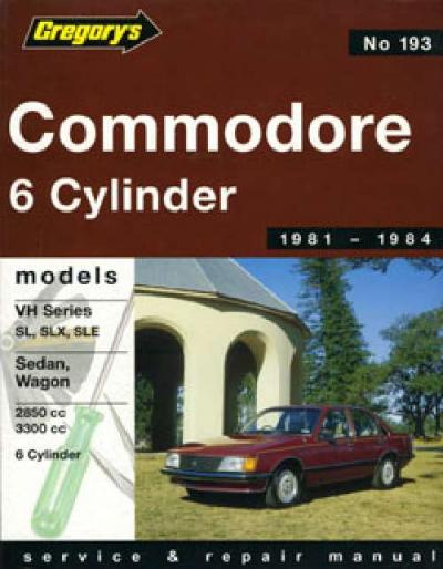 Holden Commodore VH 6 cyl 1981 1984 Gregorys Service Repair Manual