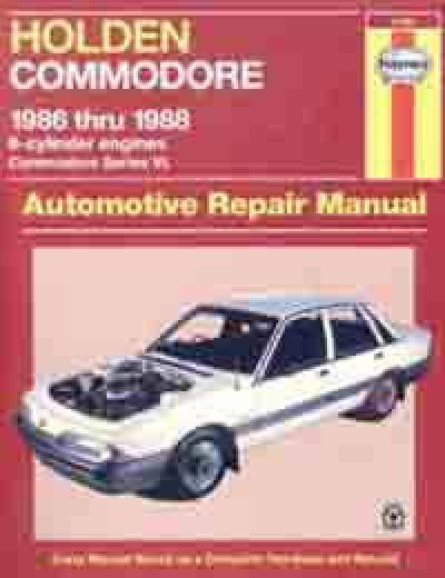 Holden Commodore VL 6 cyl 1986 1988 Haynes Service Repair Manual