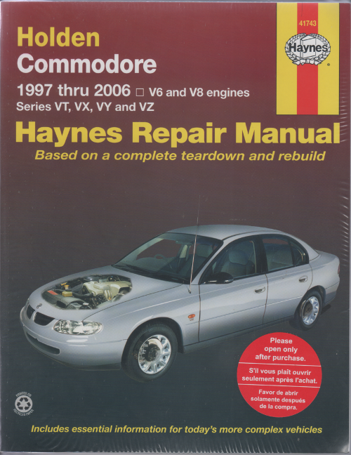 holden commodore vt to vz ii 1997 2006 haynes service repair manual rh workshoprepairmanual com au Holden VE Ute Holden vs Commodore