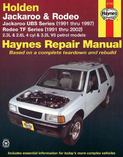 Holden Jackaroo 1991 1997 Rodeo 1991 2002 Haynes Service Repair Manual