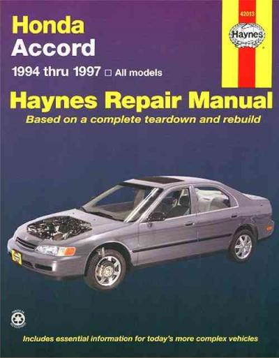 Honda Accord 1994 1997 Haynes Service Repair Manual